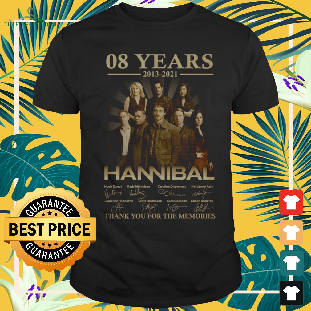 Hannibal Horror Series 08 years 2013-2021 signature thank you for the memories shirt