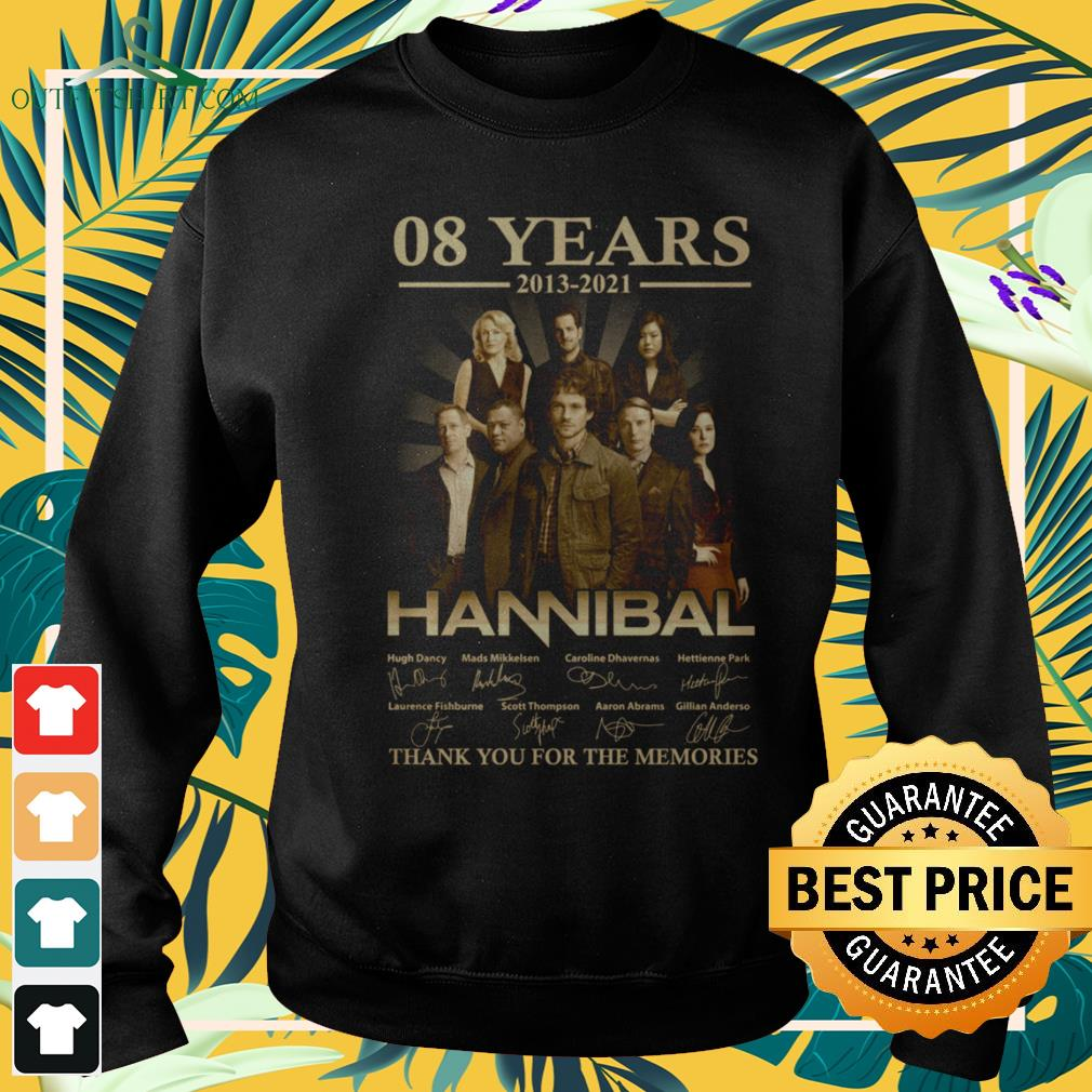 Hannibal Horror Series 08 years 2013-2021 signature thank you for the memories sweater