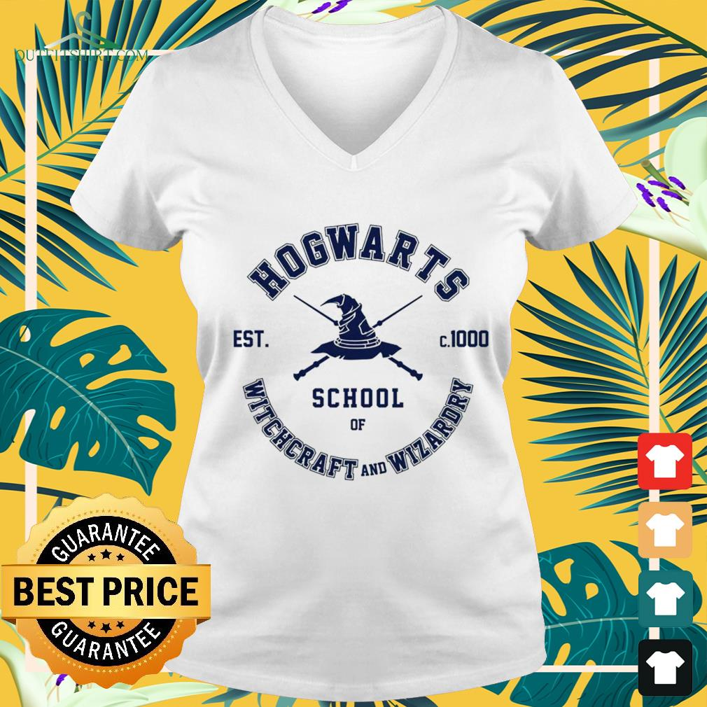 Hogwarts school of Witchcraft and Wizardry est c.1000 v-neck t-shirt