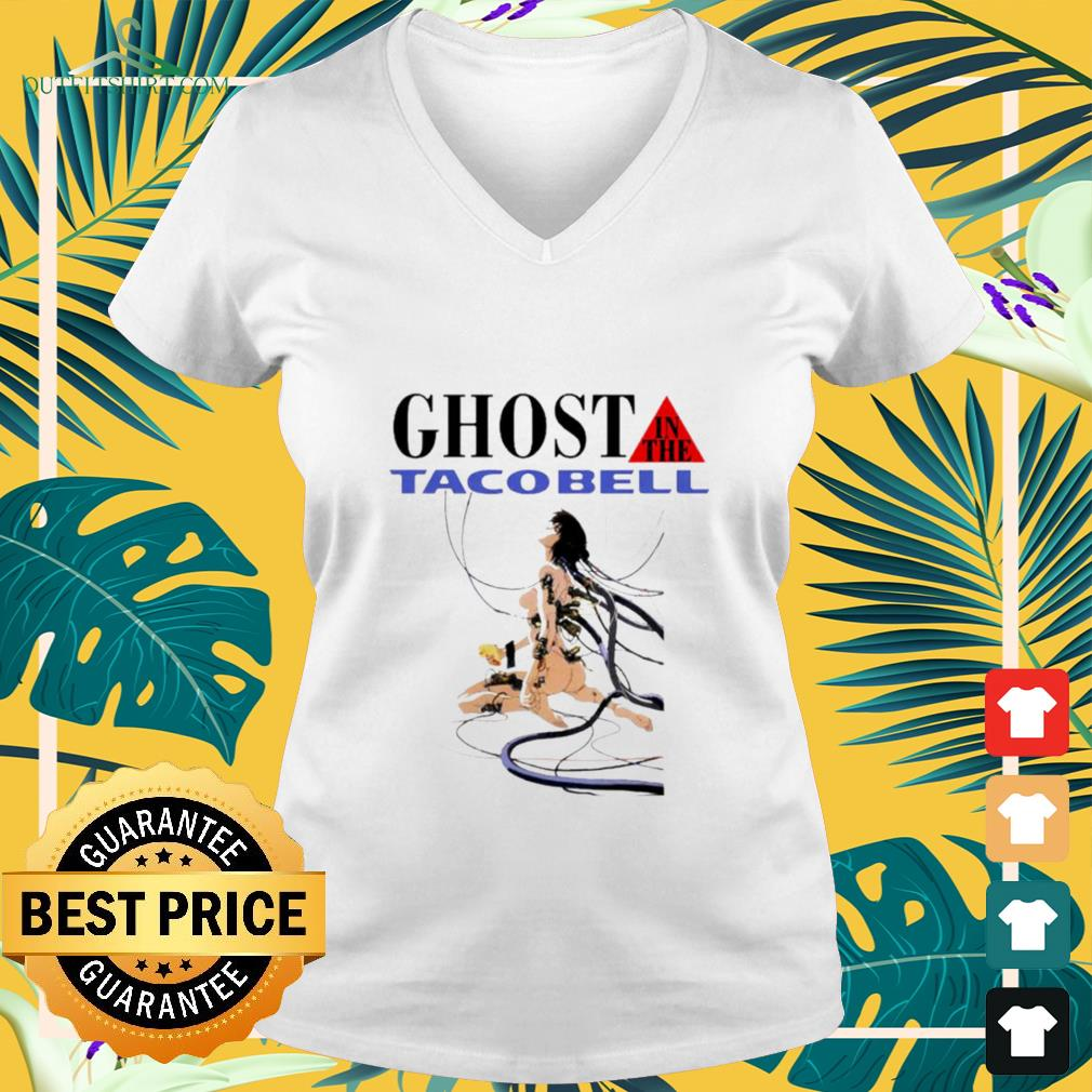 Hot Ghost in the tacobell v-neck t-shirt