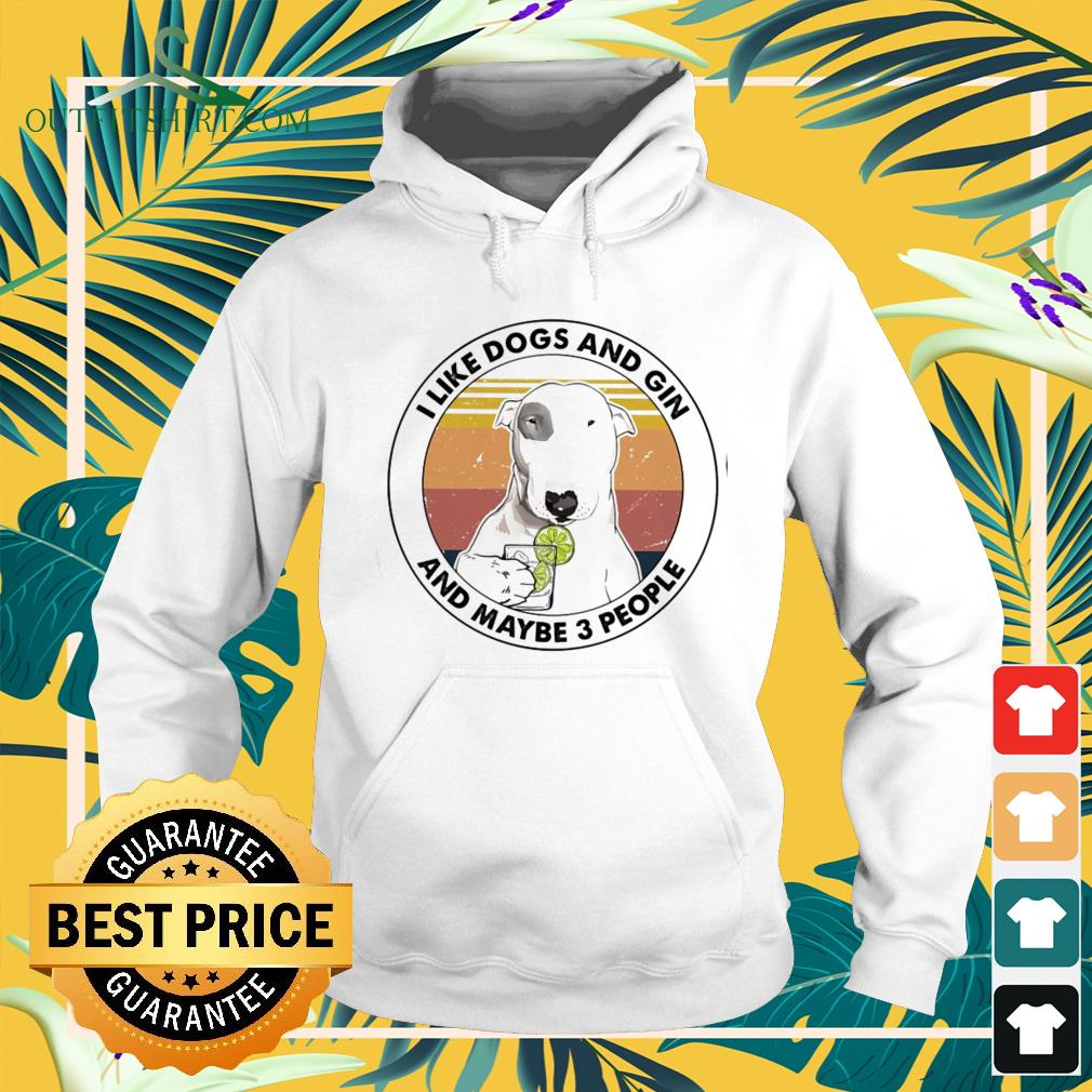 I like dogs and Gin and maybe 3 people vintage hoodie