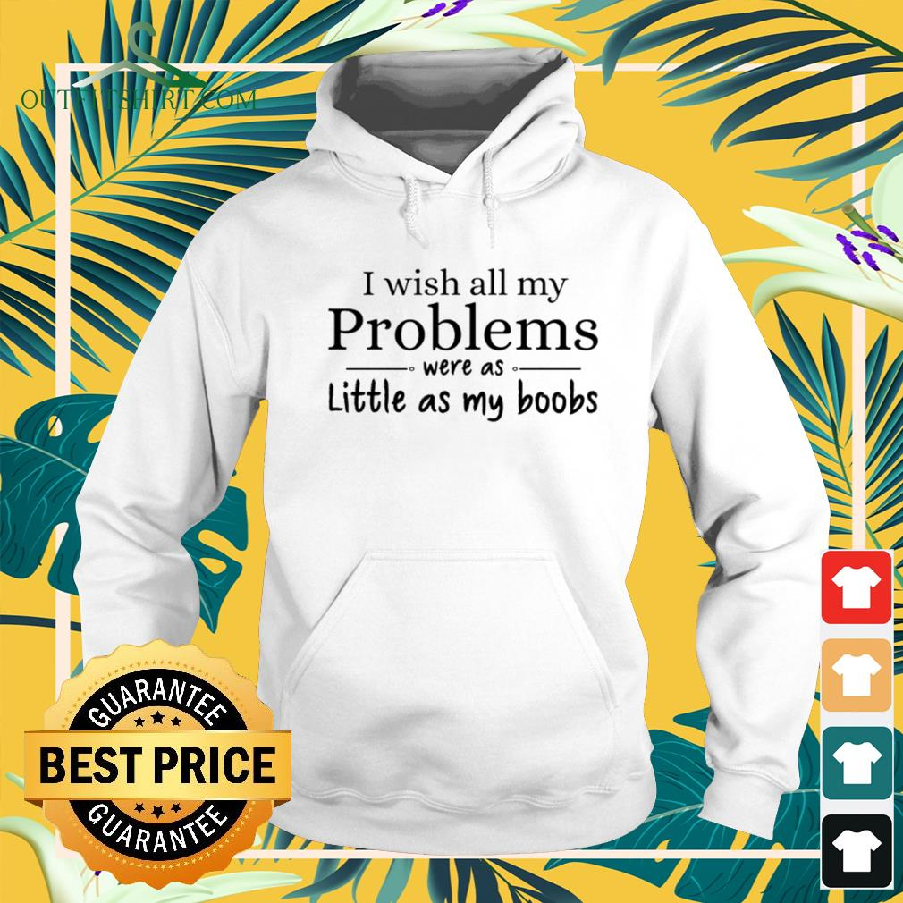 I wish all my problems were as little as my boobs funny Hoodie