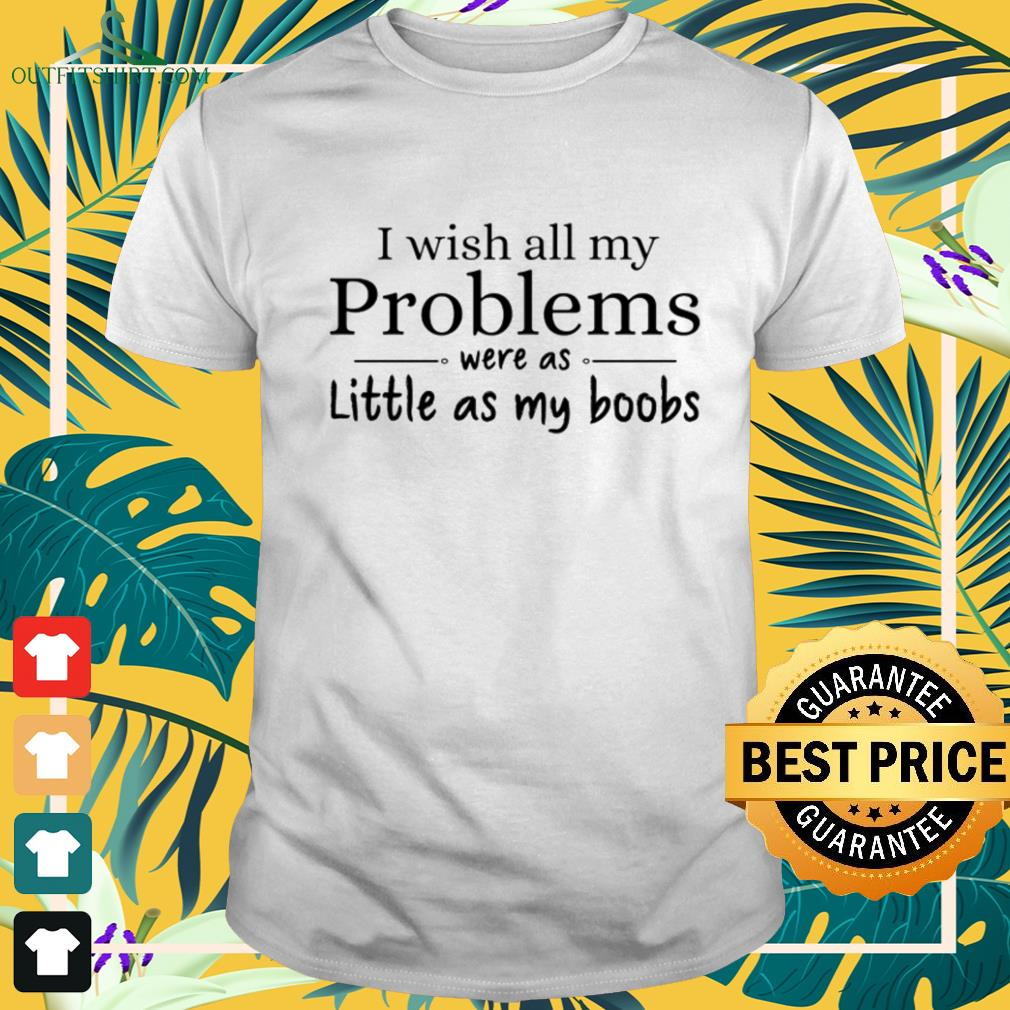 I wish all my problems were as little as my boobs funny Shirt