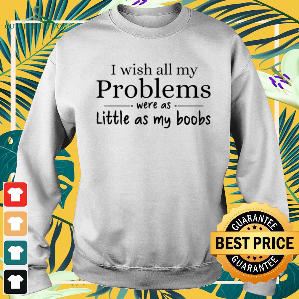 I wish all my problems were as little as my boobs funny Sweater
