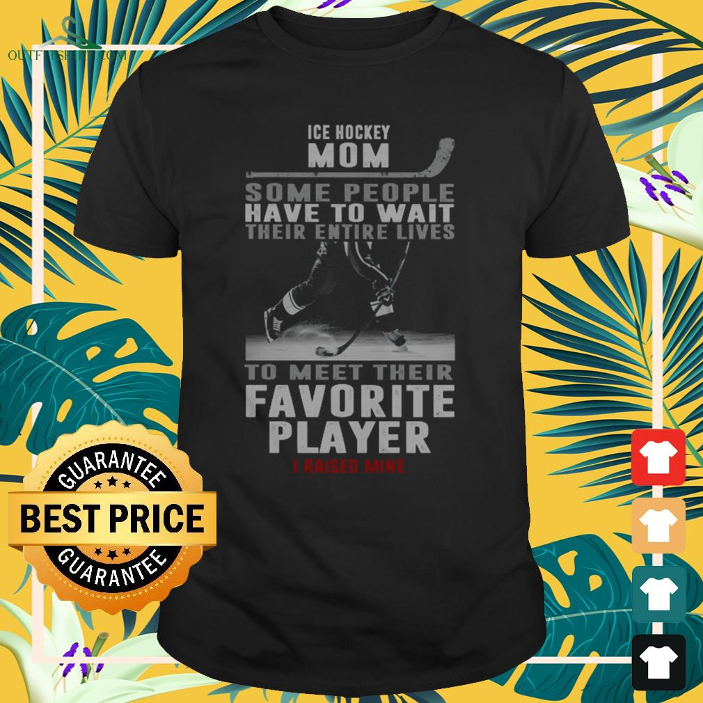 Ice hockey mom some people have to wait their entire lives to meet their favourite player shirt