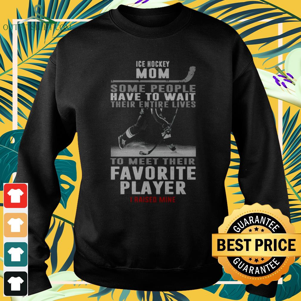 Ice hockey mom some people have to wait their entire lives to meet their favourite player sweater