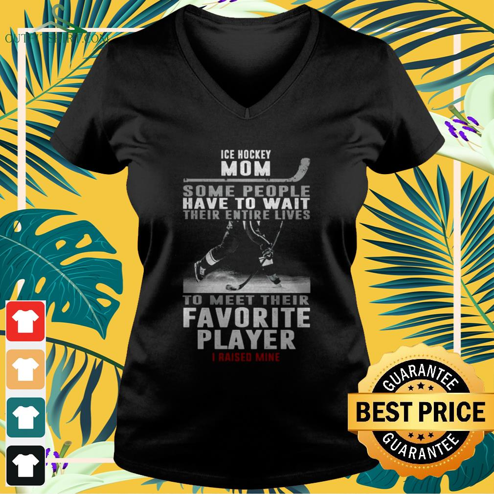 Ice hockey mom some people have to wait their entire lives to meet their favourite player v-neck t-shirt