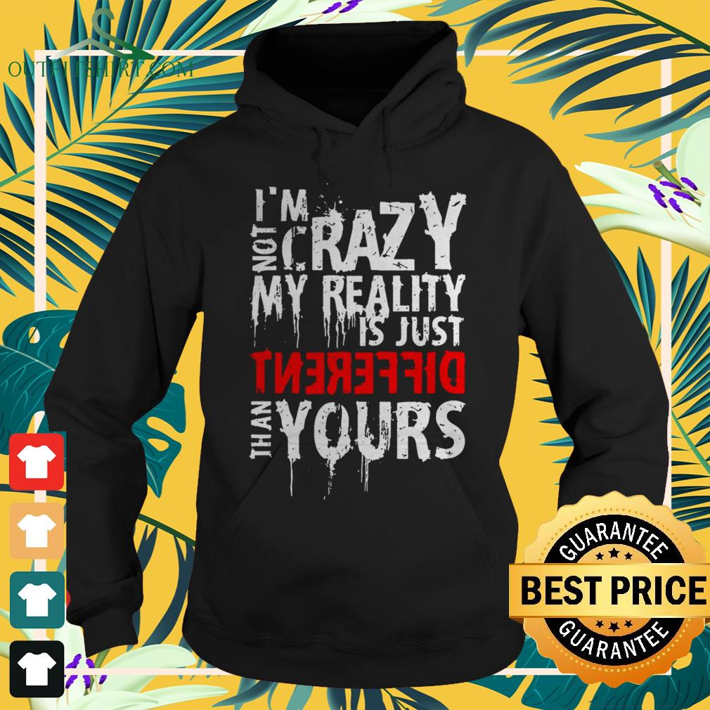 I'm not crazy my reality is just different than yours hoodie
