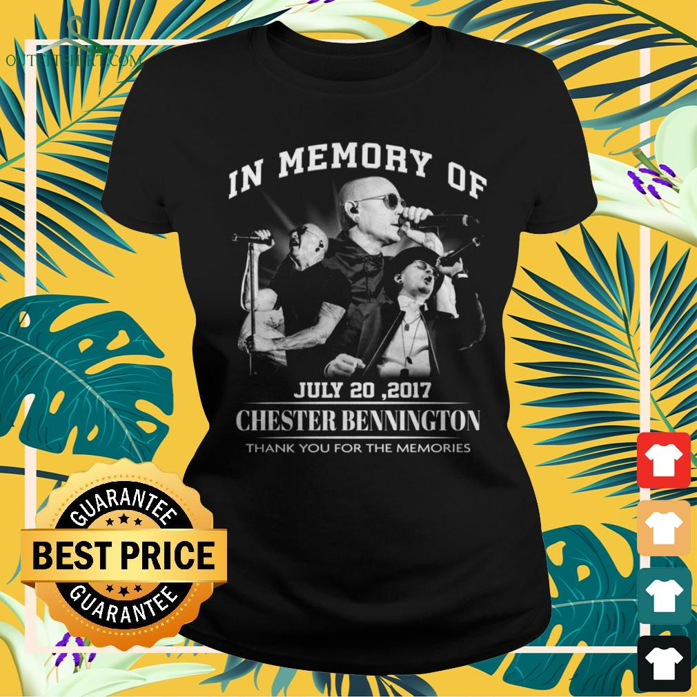 In memory of July 20,2017 Chester Bennington thank you for the memories ladies-tee