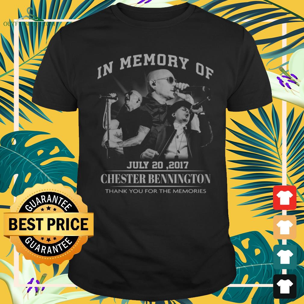 In memory of July 20,2017 Chester Bennington thank you for the memories shirt