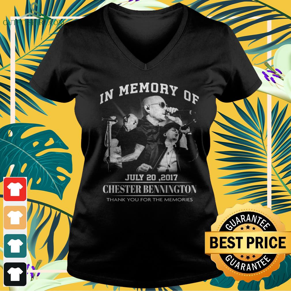 In memory of July 20,2017 Chester Bennington thank you for the memories v-neck t-shirt