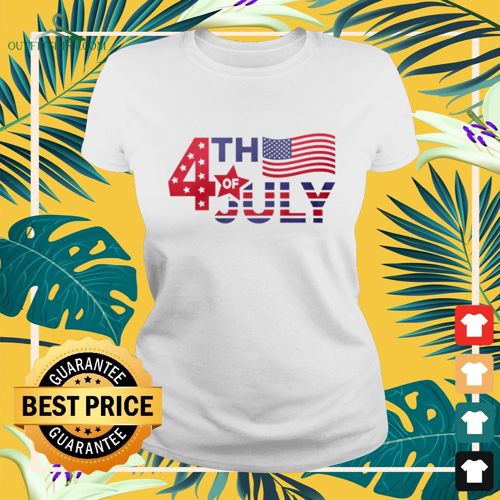 Independence Day 4th of July America Ladies-tee