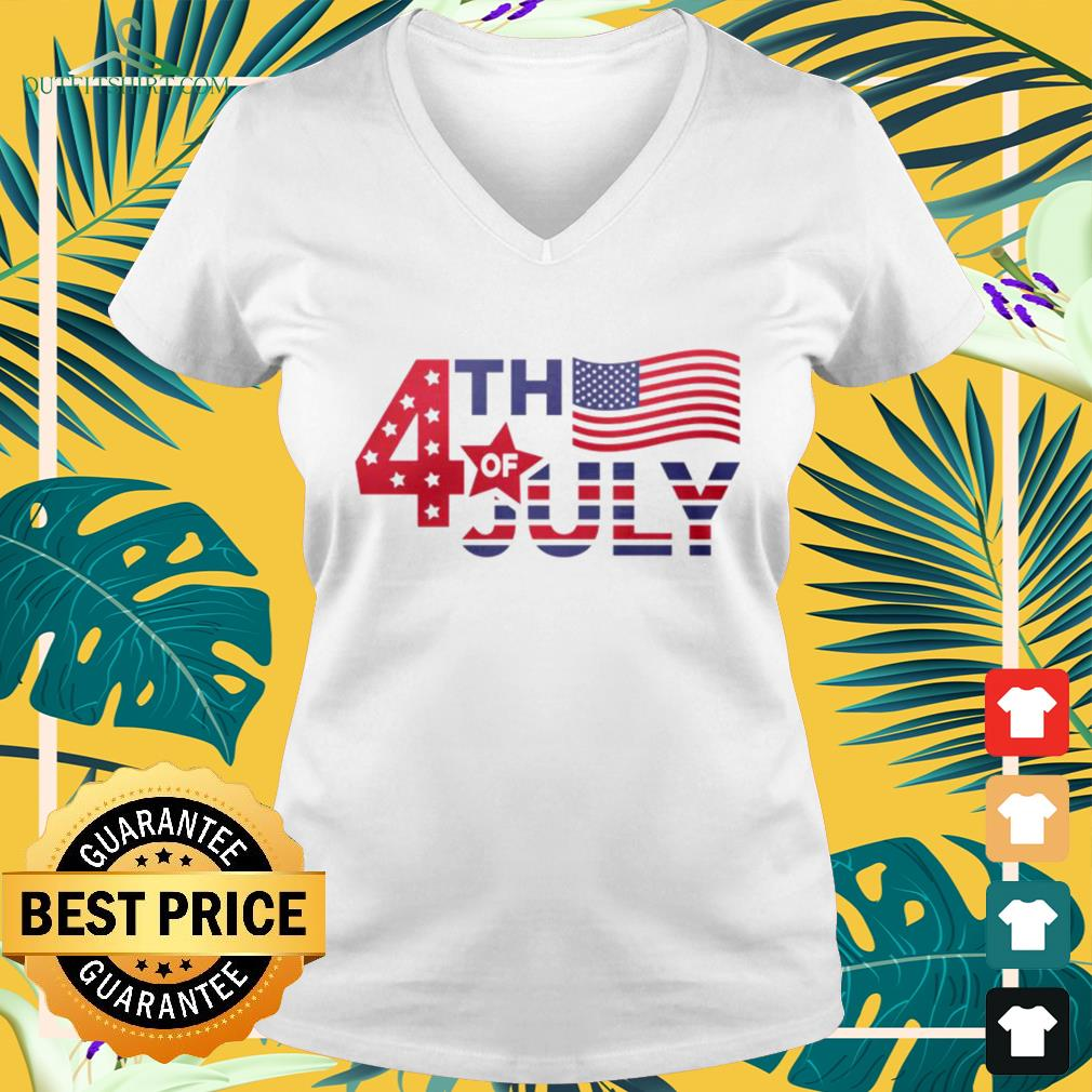 Independence Day 4th of July America V-neck t-shirt