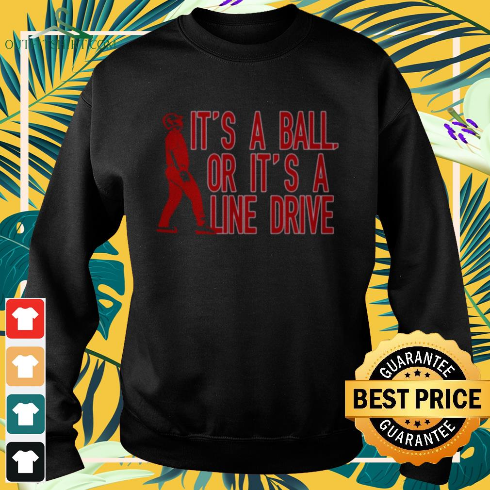 It's a ball or it's a line drive sweater