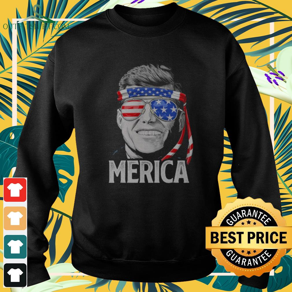 Kennedy President Merica 4th of July American flag sweater