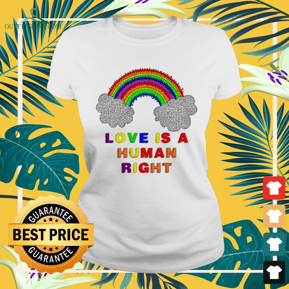 LGBT Pride month love is a human right ladies-tee