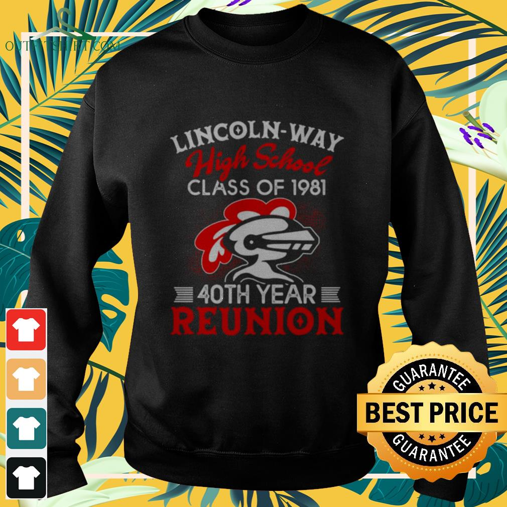 Lincon-way high school class of 1981 40th year reunion sweater