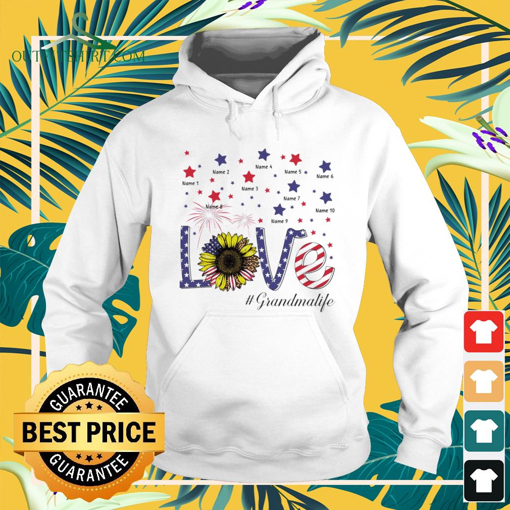 Love #Grandmalife sunflower 4th of July Independence Day hoodie