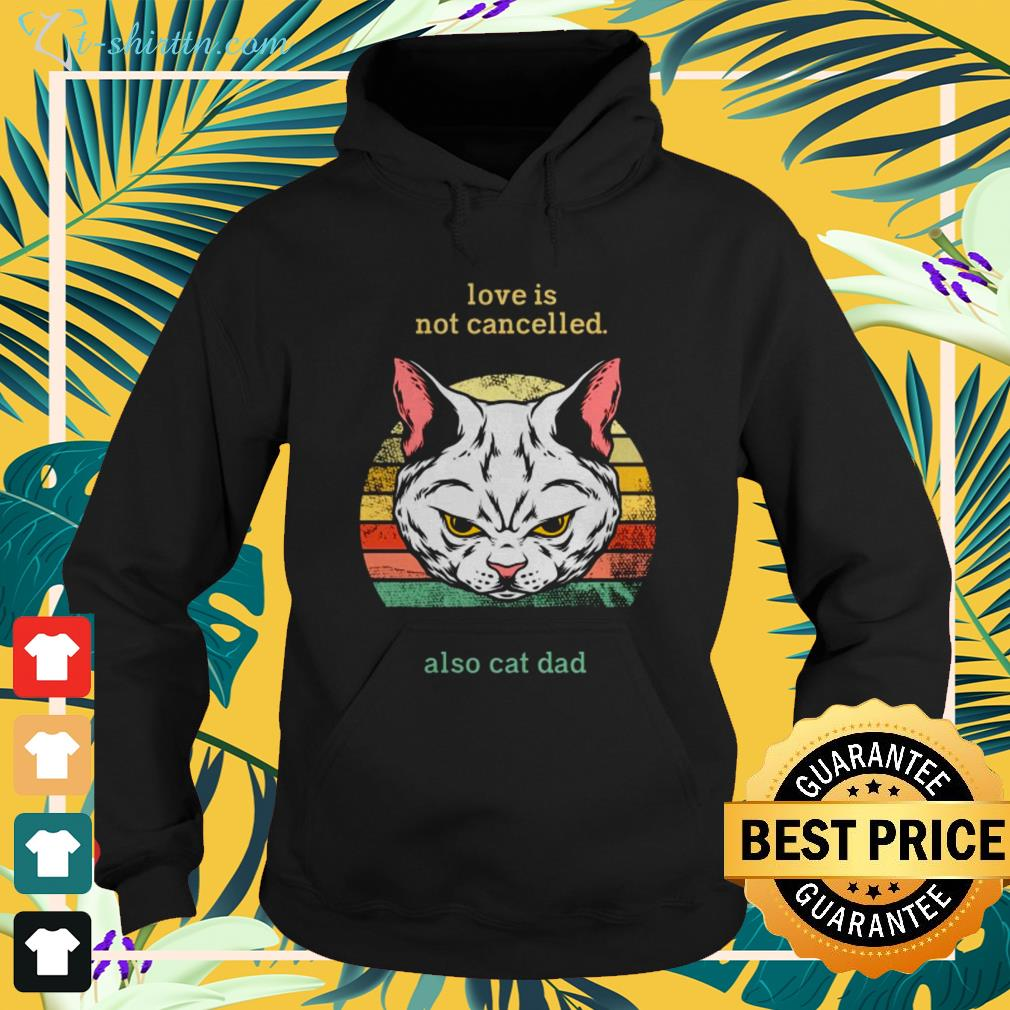 Love is not cancelled also cat dad vintage hoodie
