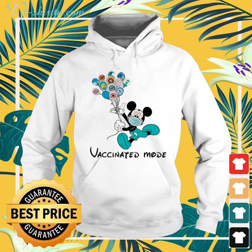 Mickey Mouse face mask vaccinated mode hoodie