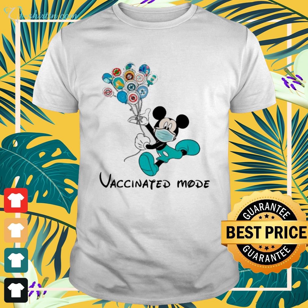 Mickey Mouse face mask vaccinated mode shirt