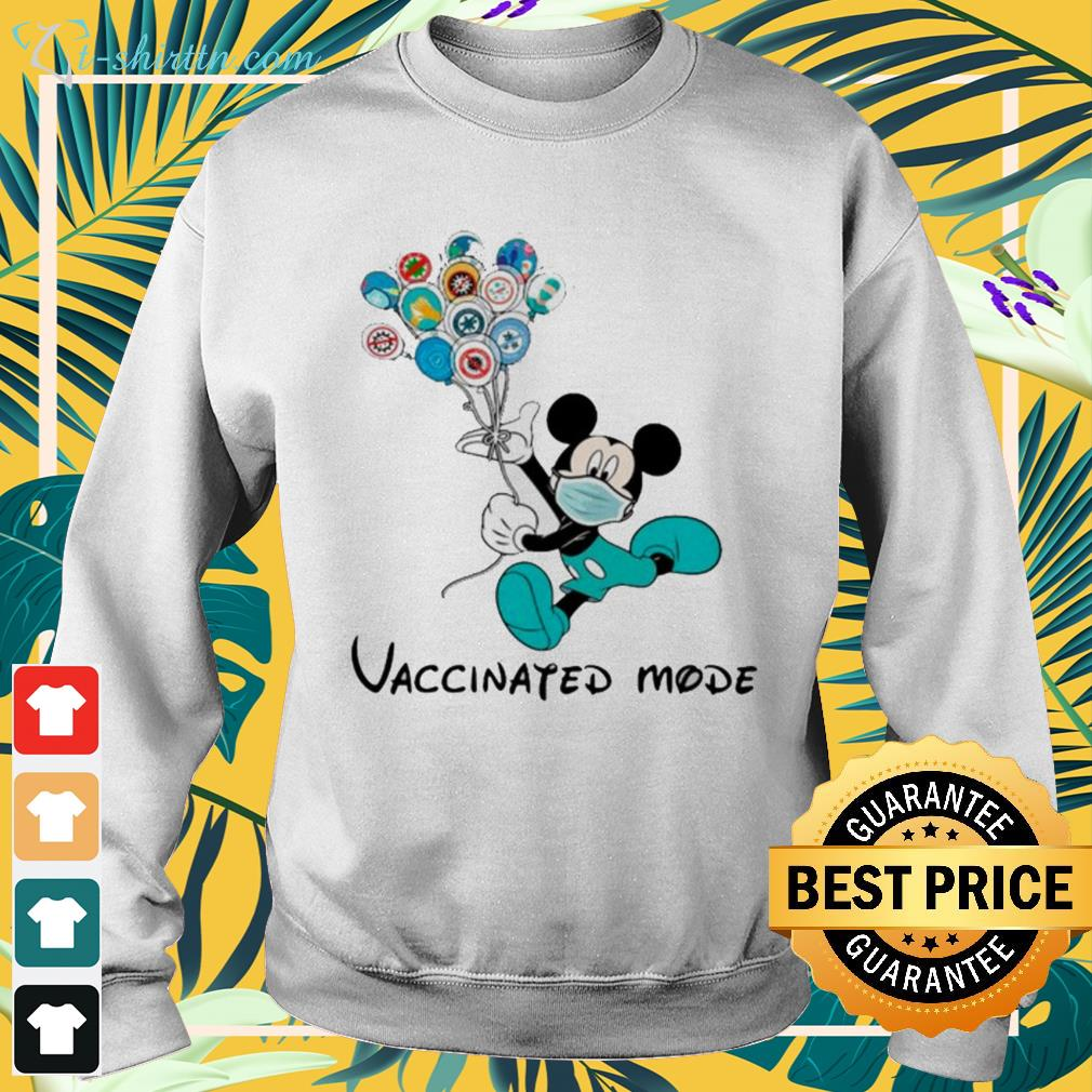 Mickey Mouse face mask vaccinated mode sweater