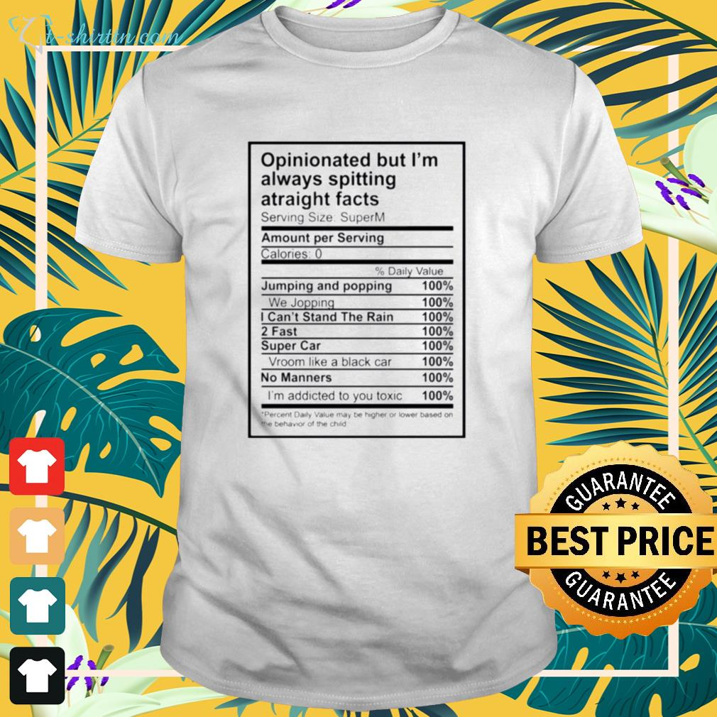 Opinionated but I'm always spitting atraight facts shirt