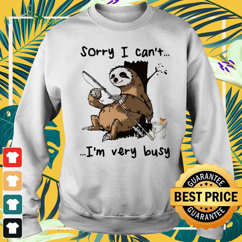 Sloth I can't I am very busy fishing sweater