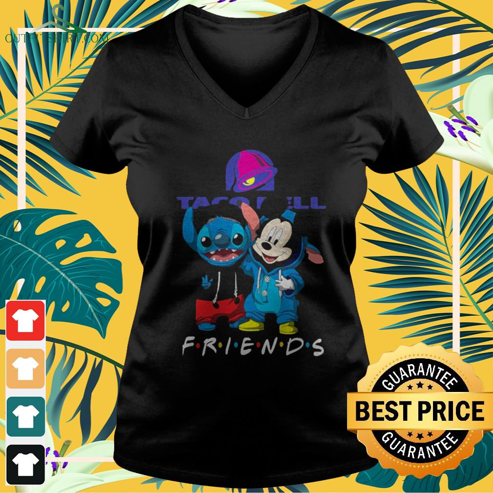Taco Bell Stitch and Mickey Mouse Friends TV show V-neck t-shirt