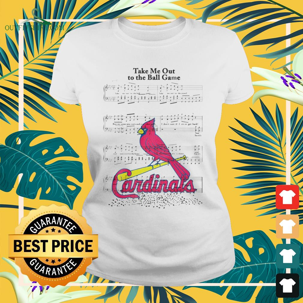 Take me out to the ball game song Arizona Cardinals ladies-tee