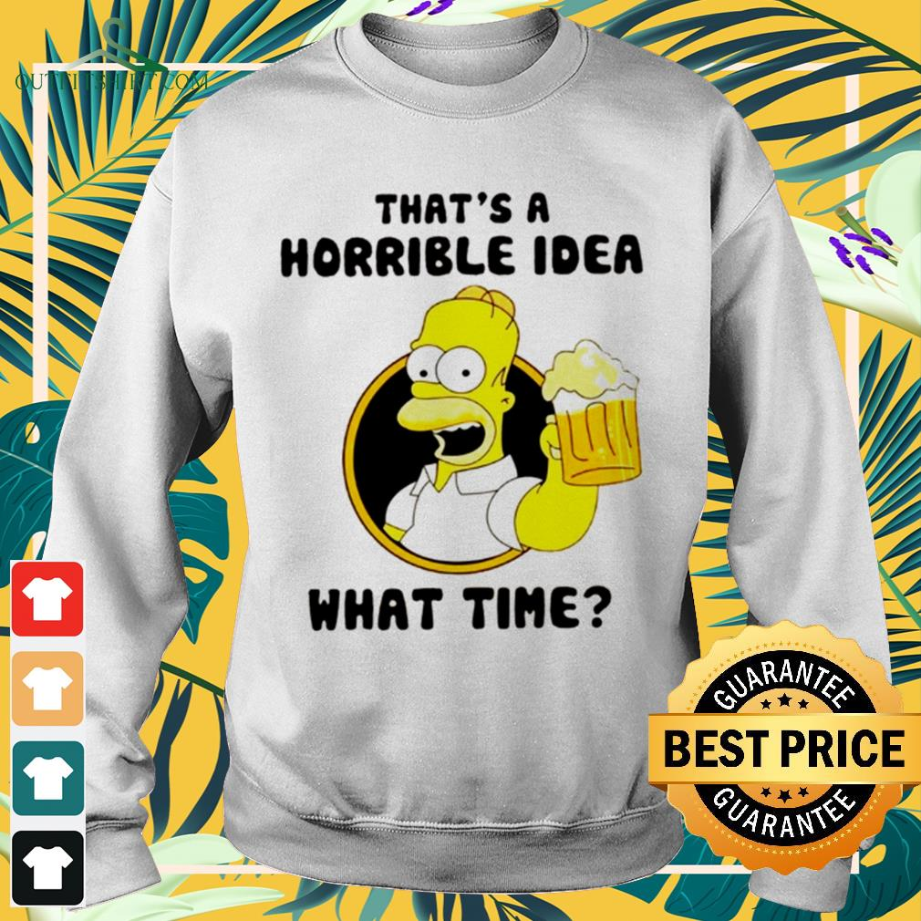 The Simpsons That's a horrible idea what time sweater
