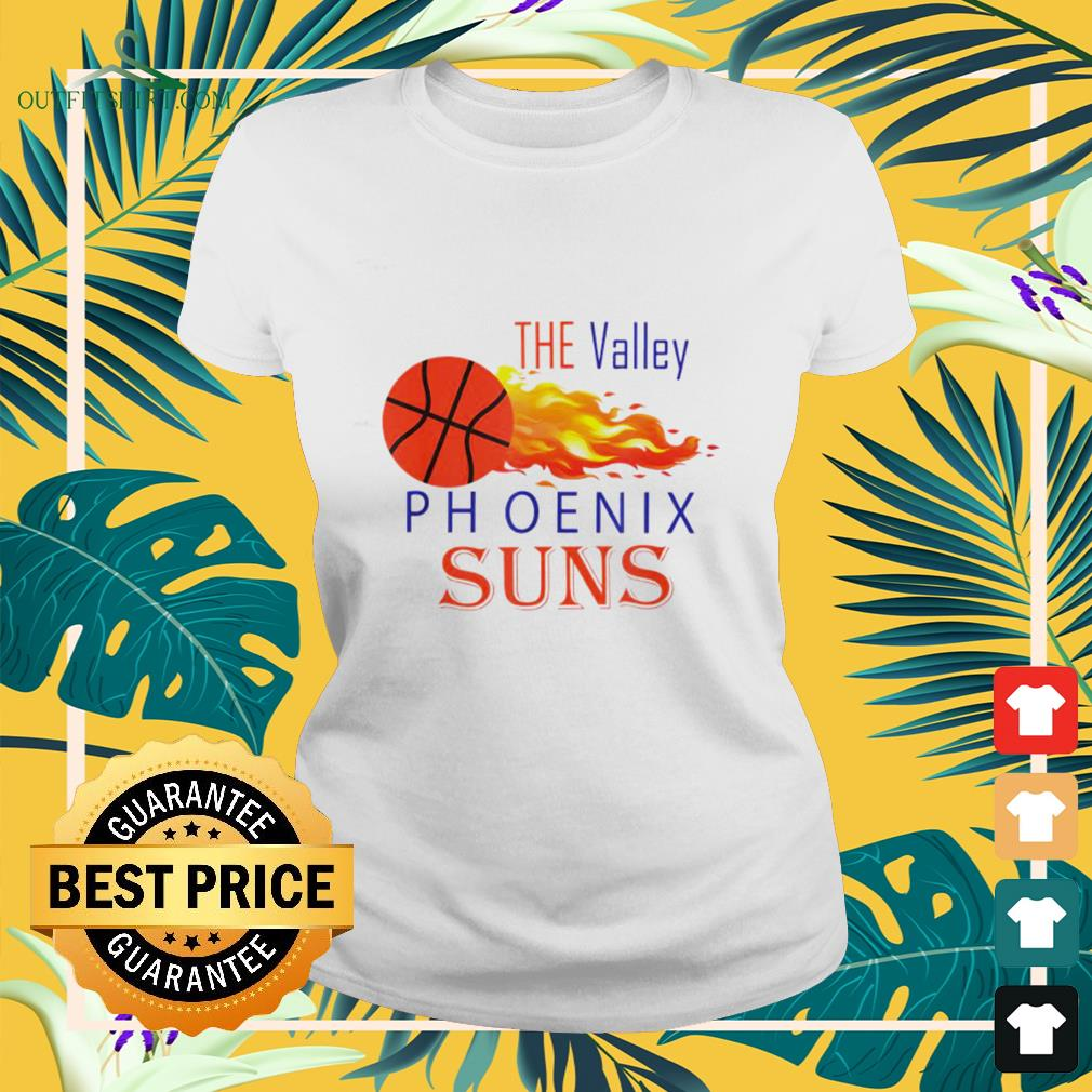 The Valley Phoenix Suns basketball lover ladies-tee