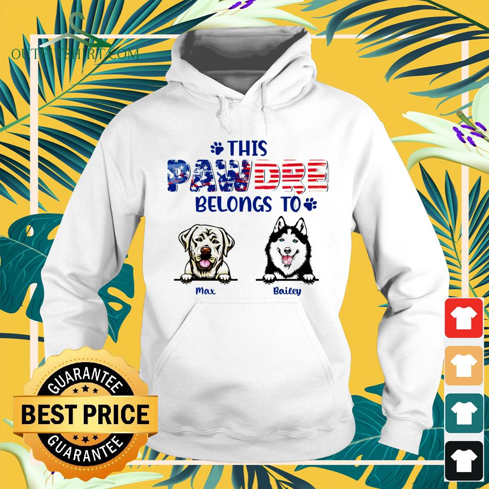 This pawdre belongs to Independence Day custom hoodie
