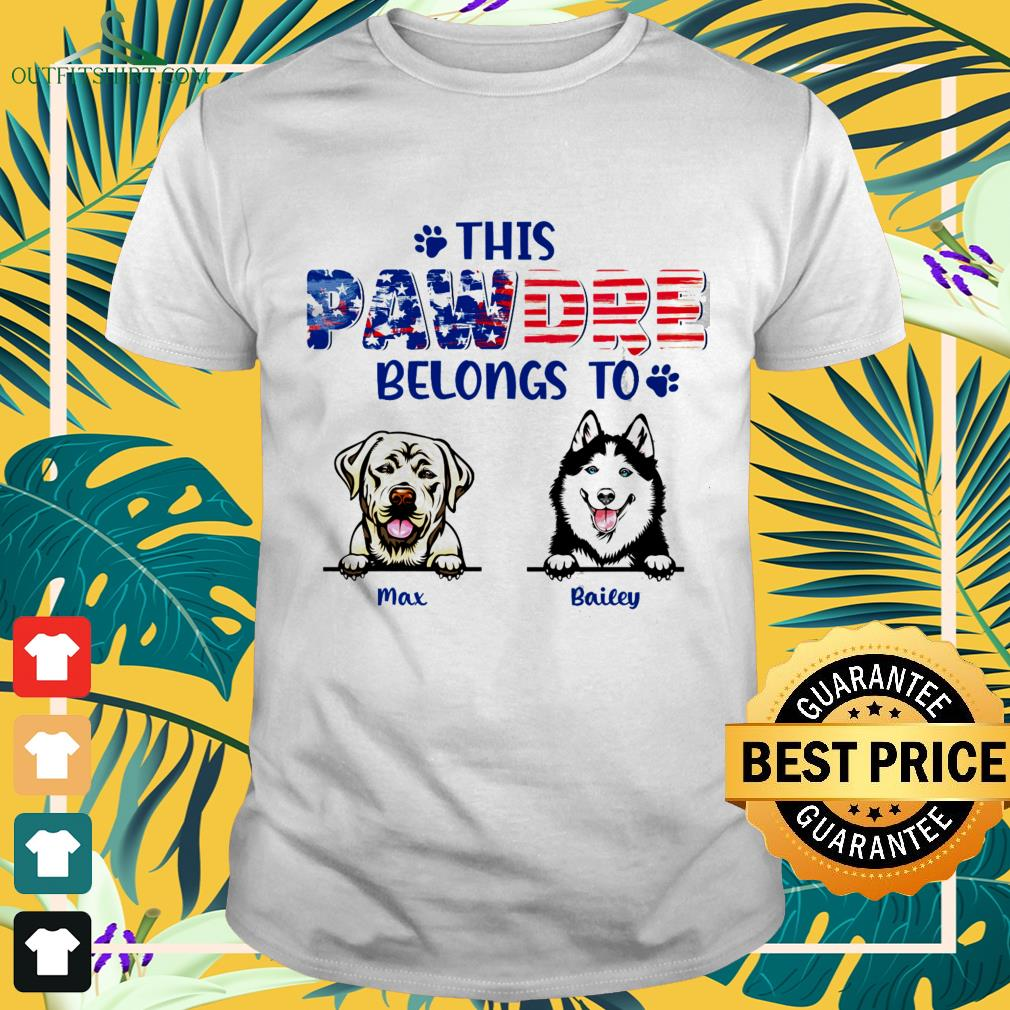 This pawdre belongs to Independence Day custom shirt