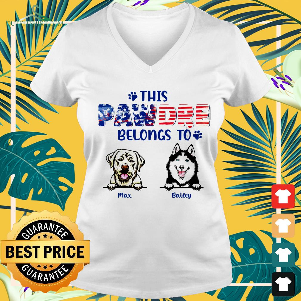 This pawdre belongs to Independence Day custom v-neck t-shirt