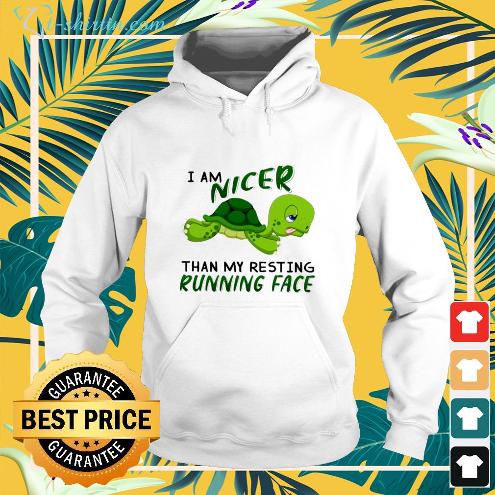 Turtle I am nicer than my resting running face hoodie
