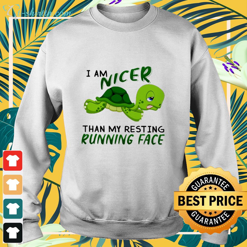 Turtle I am nicer than my resting running face sweater