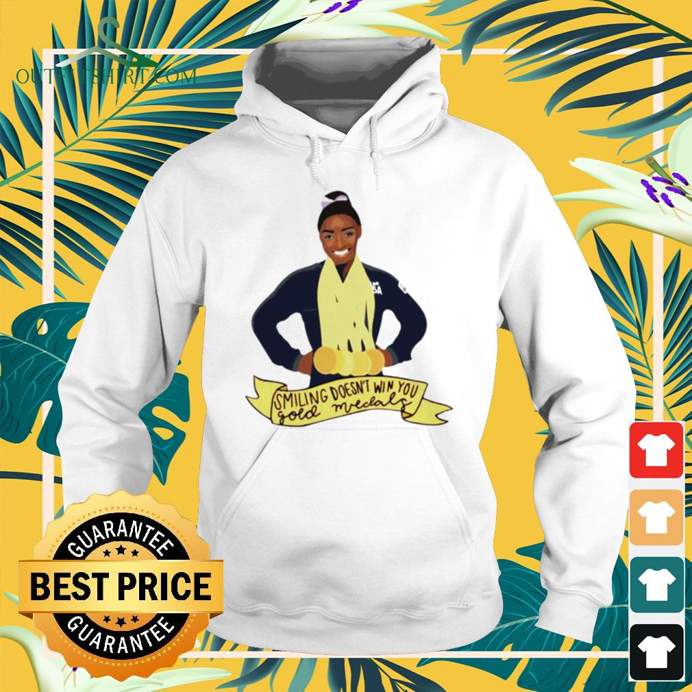 Simone Arianne Biles Smiling doesn't win you gold medals waterproofhoodie