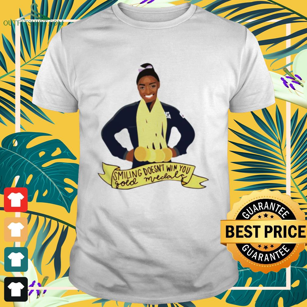 Simone Arianne Biles Smiling doesn't win you gold medals waterproof shirt