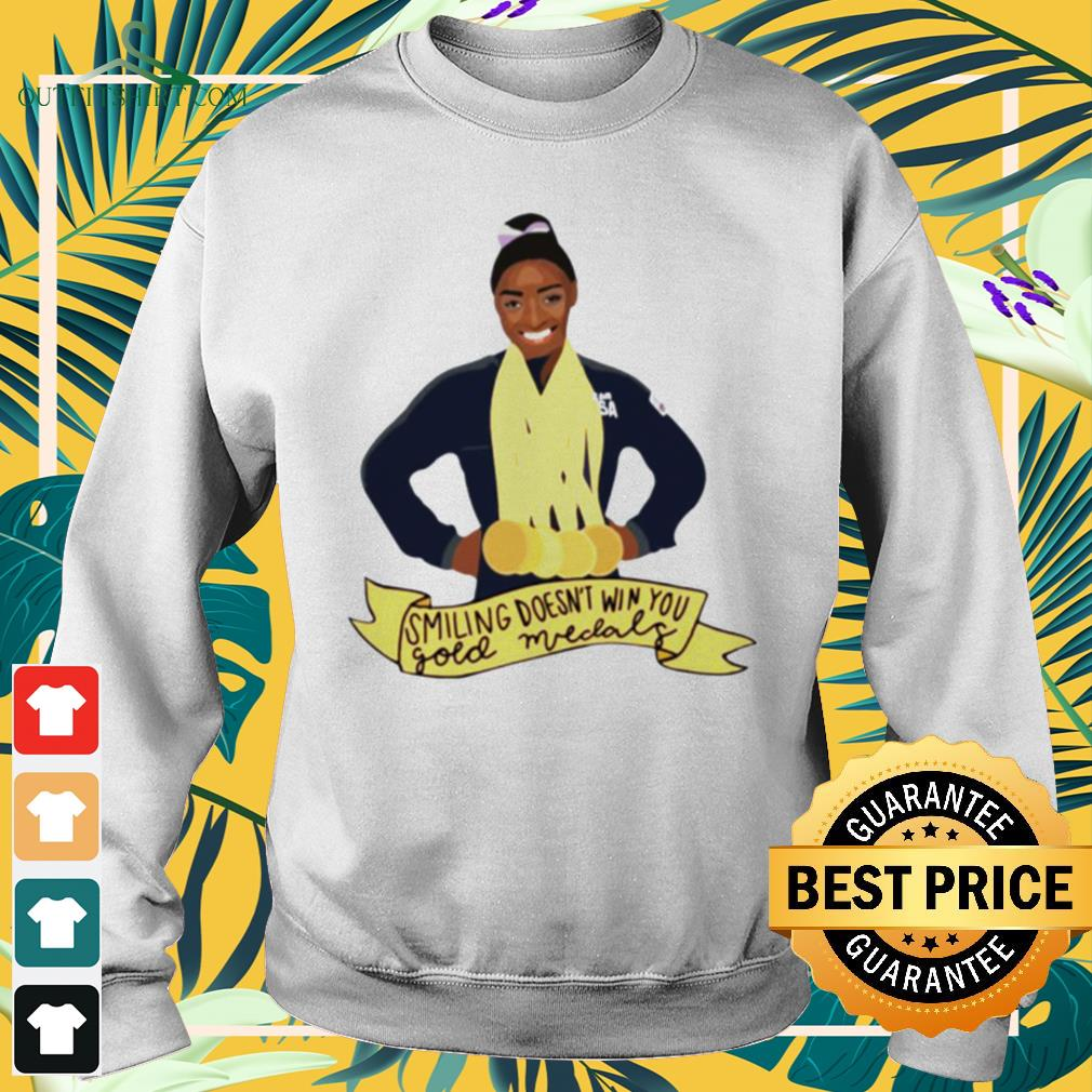 Simone Arianne Biles Smiling doesn't win you gold medals waterproof  sweater