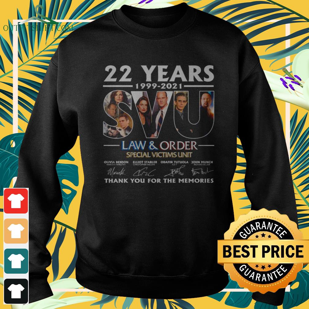 22 Years 199-2021 SVU Law and Order Special Victims Unit thank you for the memories signature sweater