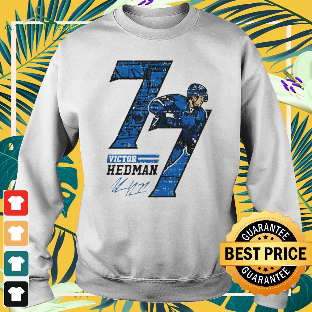 77 Victor Hedman hockey player Tampa Bay signature sweater