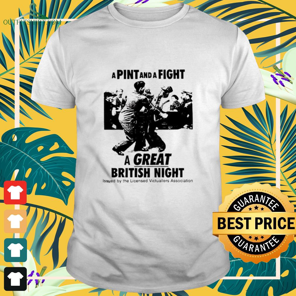 A pint and a fight a great British night shirt