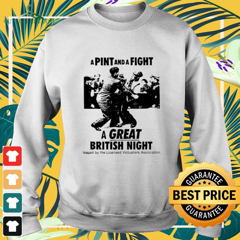 A pint and a fight a great British night sweater