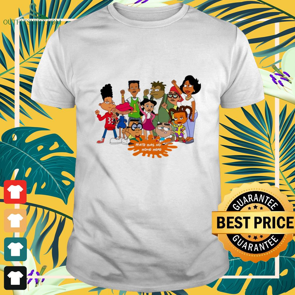 Afro black cartoon characters hate has no home here shirt