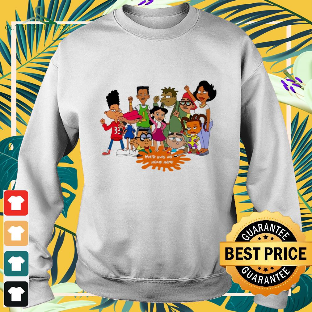Afro black cartoon characters hate has no home here sweater