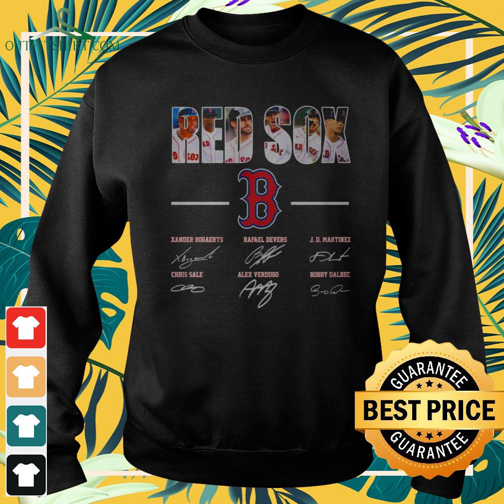 Boston Red Sox players signature sweater