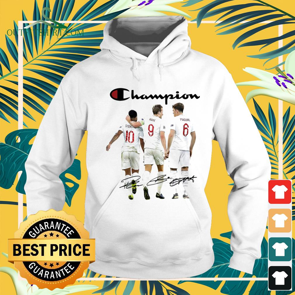 Champion Sterling Kane Maguire England national football team signature hoodie