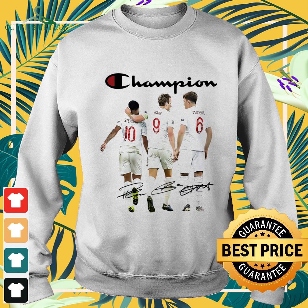 Champion Sterling Kane Maguire England national football team signature sweater