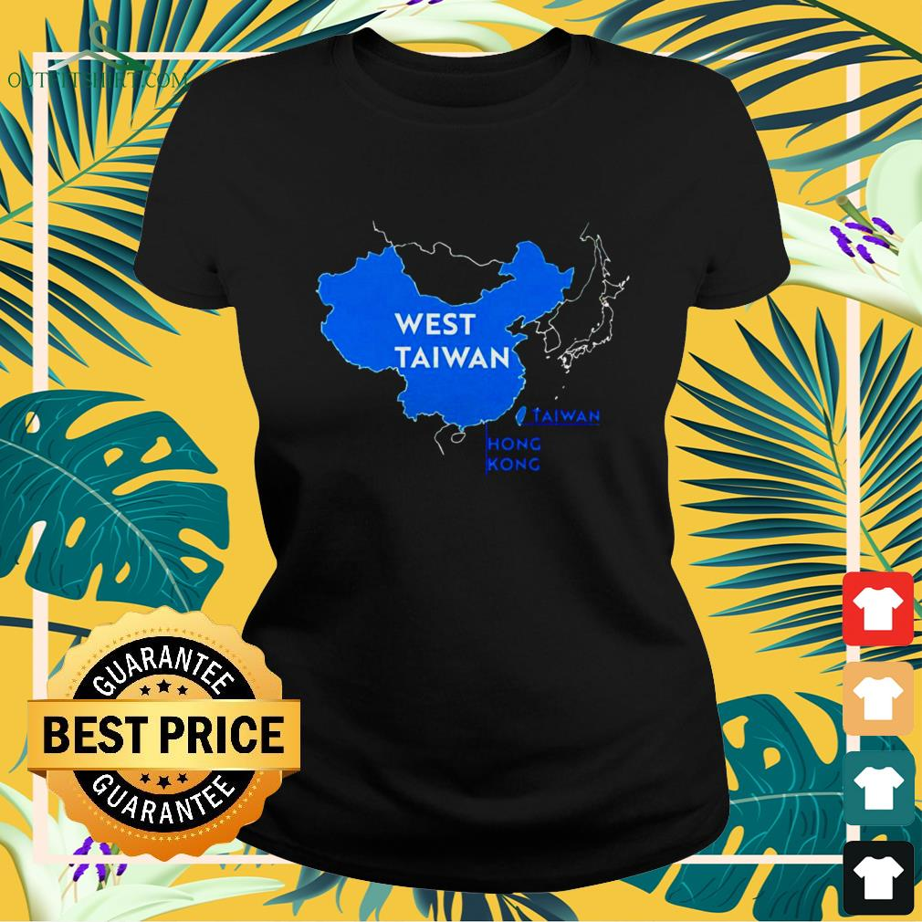 China map West Taiwan funny ladies-tee